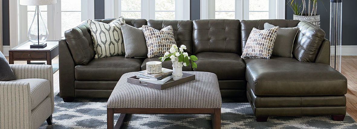 Leather Sectionals : bassett leather sectional - Sectionals, Sofas & Couches
