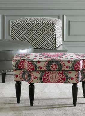 Custom Ottomans and Benches