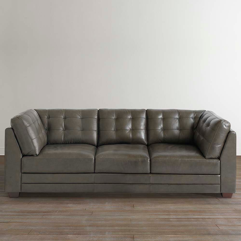 fabric vs leather couch bassett furniture Affinity Sofa