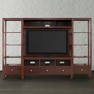 different types of furniture Redin Park Open Entertainment Wall Bassett