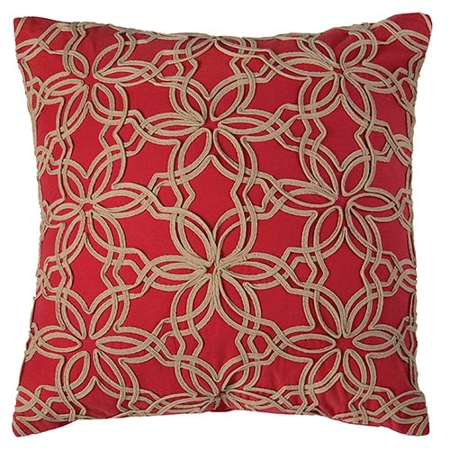 find your interior design style Red Beige Cotton Pillow