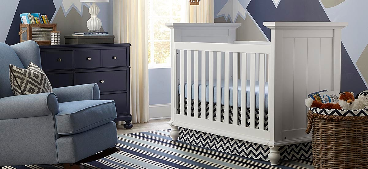 Wakefield Colors 3 in 1 Convertible Crib - Bassett Furniture