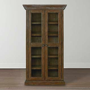 different types of furniture Compass Tall Single Display Cabinet Bassett