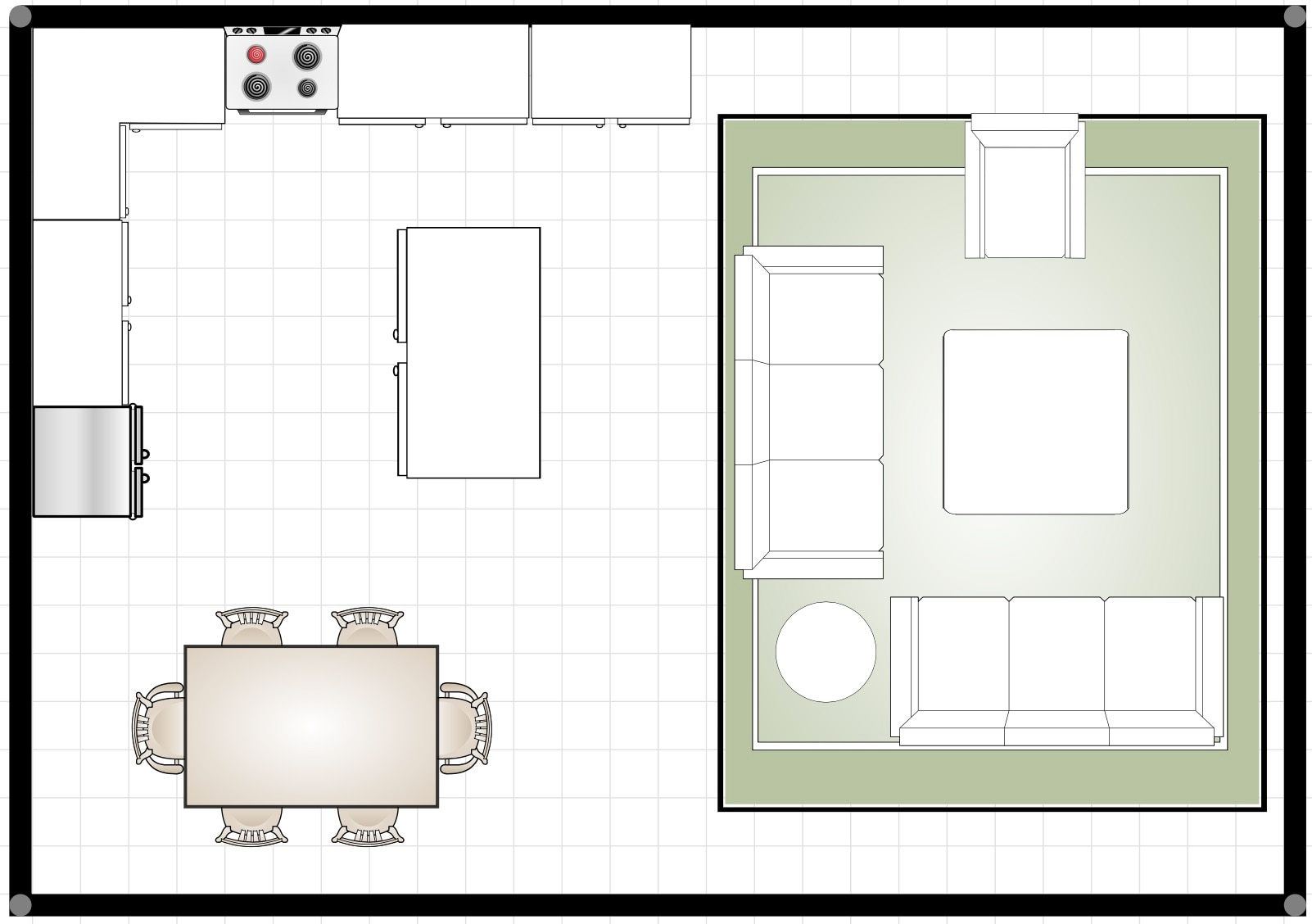 How to arrange furniture for open floor plan arranging - Planning living room furniture layout ...
