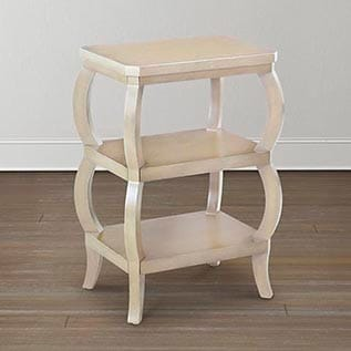 different types of furniture Discoveries Parchment Tiered Table Bassett