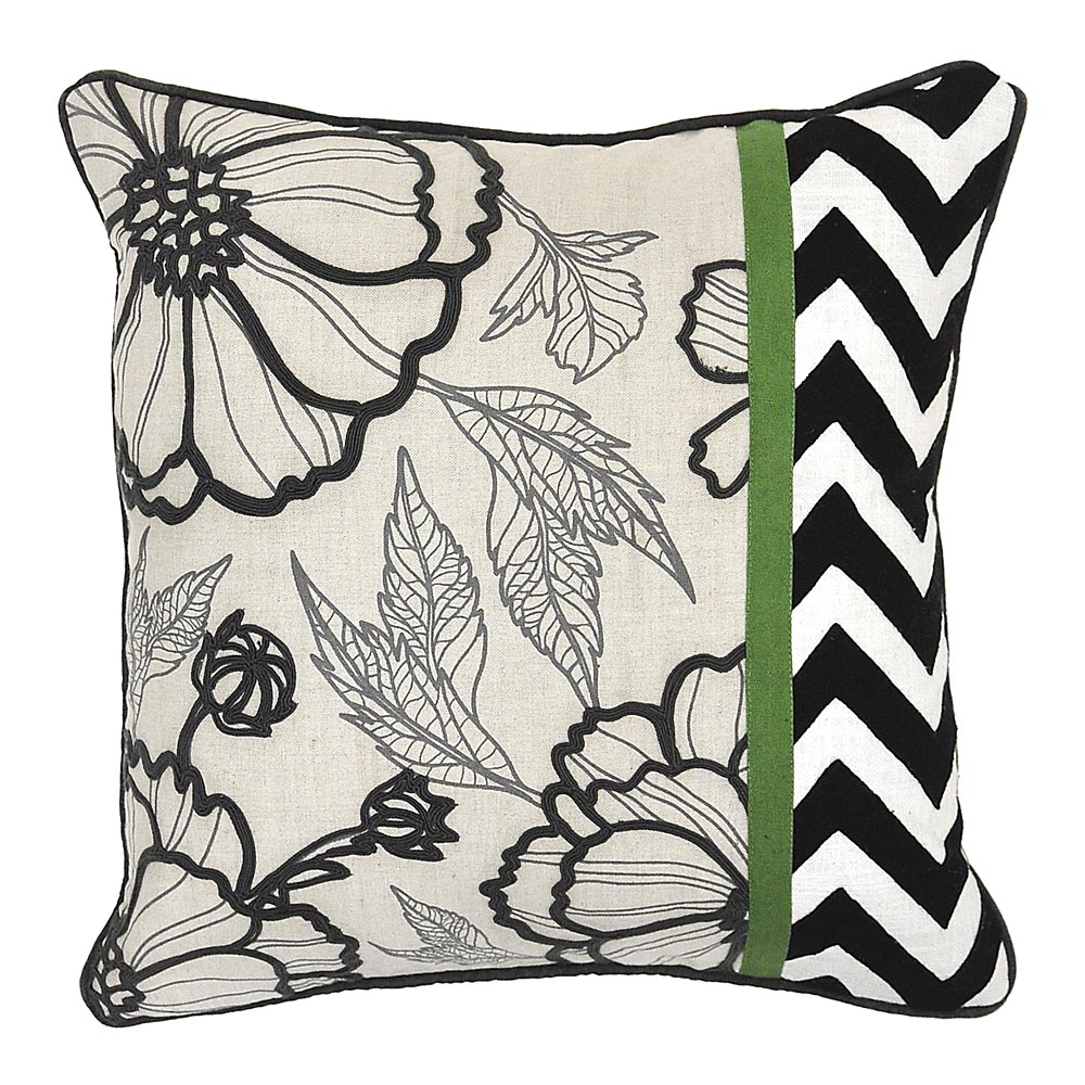 how to choose throw pillows for sofa bassett furniture Medley Black White Green