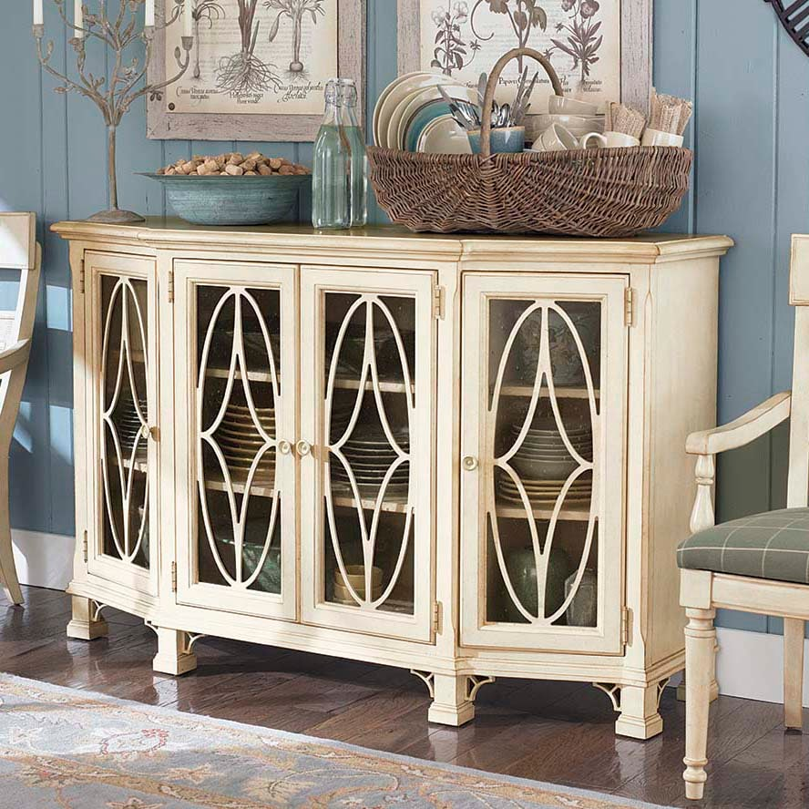 decorate console table living room Moultrie Park Oval Door Console bassett furniture