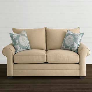different types of furniture Alex Loveseat Bassett