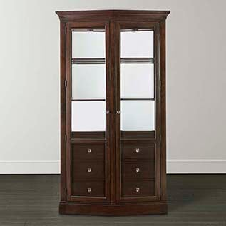 different types of furniture Cosmopolitan China Cabinet Bassett