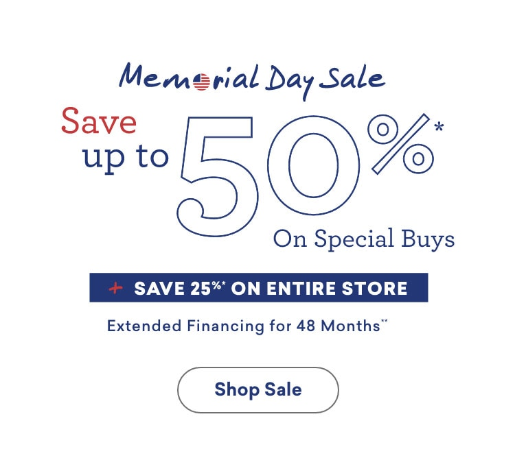 memorial day sale save up to 50% off on special buys plus save 25% on other furniture extended financing 48 months Mobile