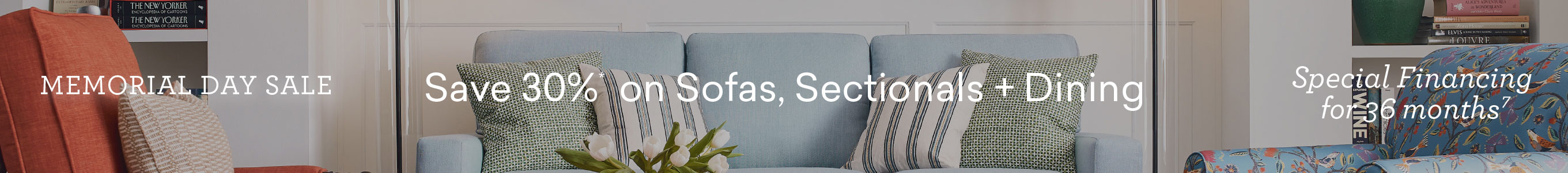 memorial day sale save 30% on sofas sectional and dining special financing 35 months